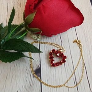 DMO Jewelry - Vintage DMO 1998 Rose Austrian Crystal Necklace